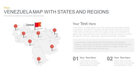 Venezuela Map Powerpoint and Keynote template