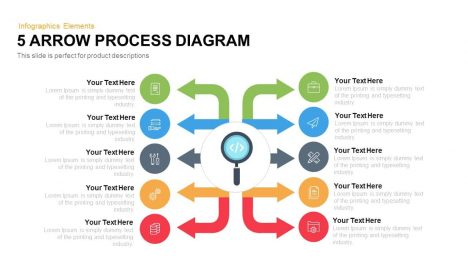 arrow process diagram 5