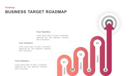 Target business roadmap PowerPoint template and keynote