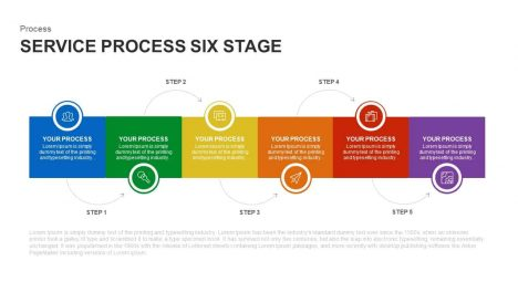 6 stage service process PowerPointtemplate