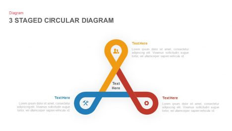 3 stage circular diagram powerpoint template and keynote slide