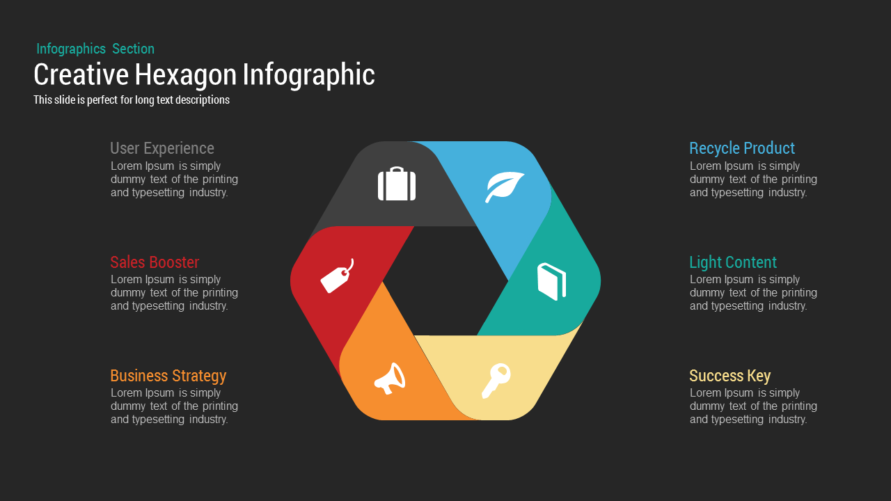 Creative hexagon infographic powerpoint keynote template slidebazaar creative hexagon infographic powerpoint and keynote template toneelgroepblik Image collections