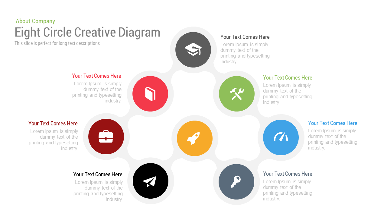 Eight circle diagram free powerpoint keynote template slidebazaar eight circle creative diagram free powerpoint and keynote template alramifo Gallery