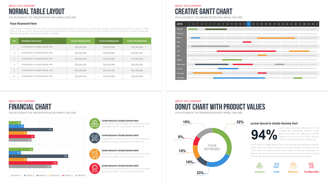 Company Profile Free PowerPoint Template – Sample Business Profile Template