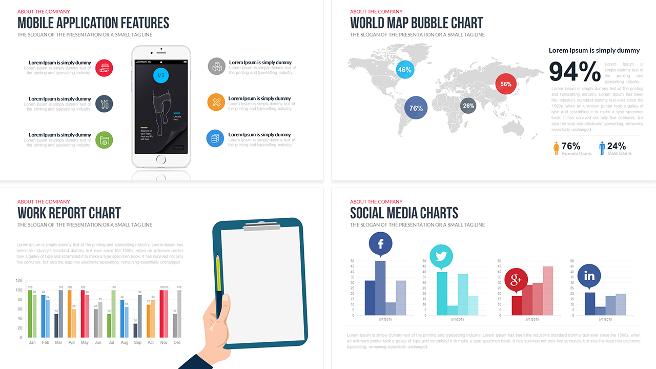 company profile free powerpoint template | slidebazaar, Presentation templates