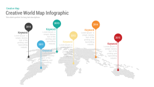 Creative World Map with Bubbles PowerPoint and Keynote Template