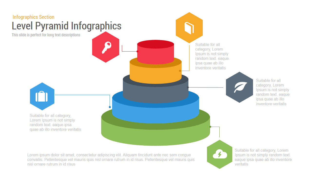 Level Pyramid Infographic Powerpoint Template And Keynote Slide