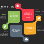 Business Four Square PowerPoint and keynote template