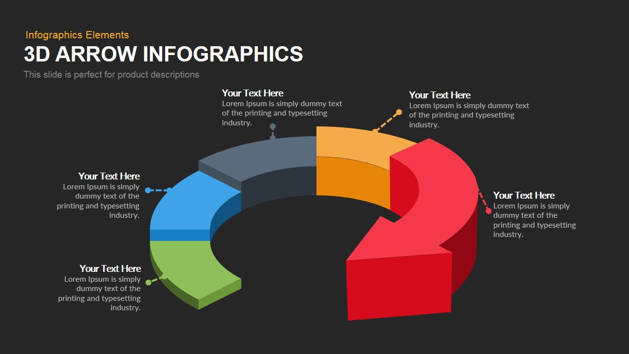 3d Arrow Infographics Powerpoint Keynote template