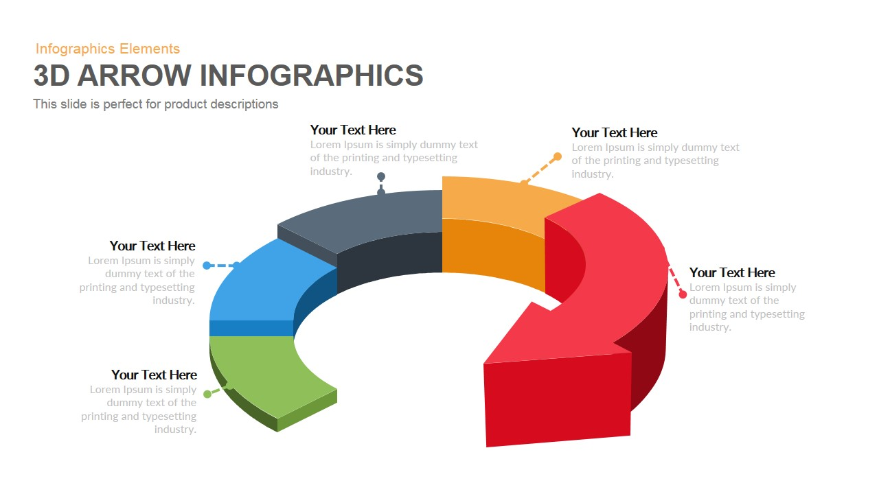 3d arrow infographics powerpoint keynote template toneelgroepblik Gallery