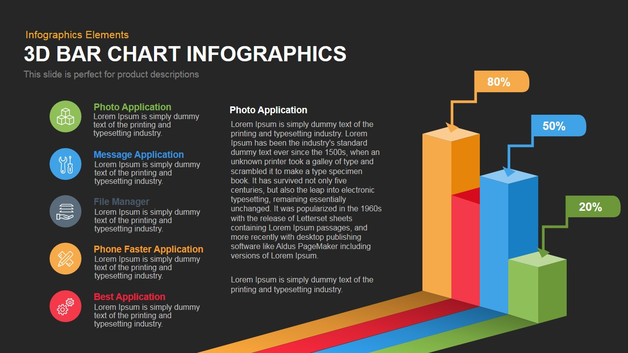 Bar Chart Infographics Powerpoint Keynote template