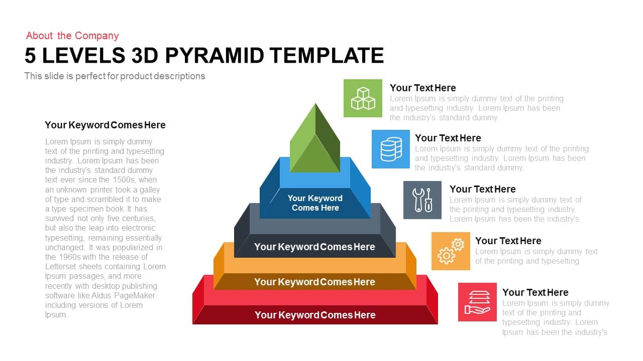 5 levels 3d pyramid powerpoint keynote slidebazaar powerpoint templates 5 levels 3d pyramid alramifo Images