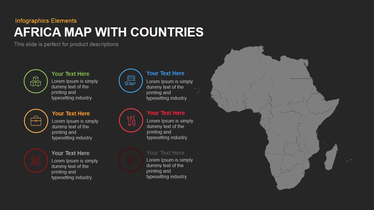 Africa map with countries powerpoint and keynote template slidebazaar africa map with countries powerpoint and keynote template toneelgroepblik Gallery