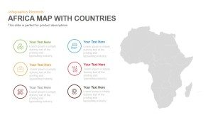 Africa Map with Countries Template for PowerPoint & Keynote