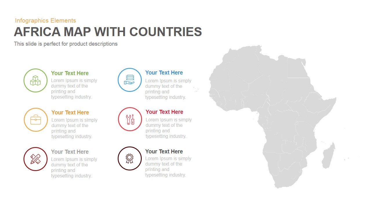 Africa map with countries powerpoint and keynote template slidebazaar africa map with countries powerpoint and keynote template toneelgroepblik Choice Image