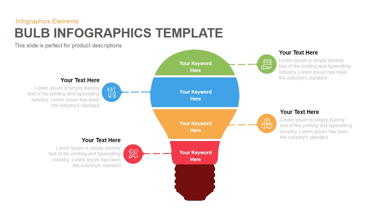 bulb infographics template powerpoint and keynote template slidebazaar