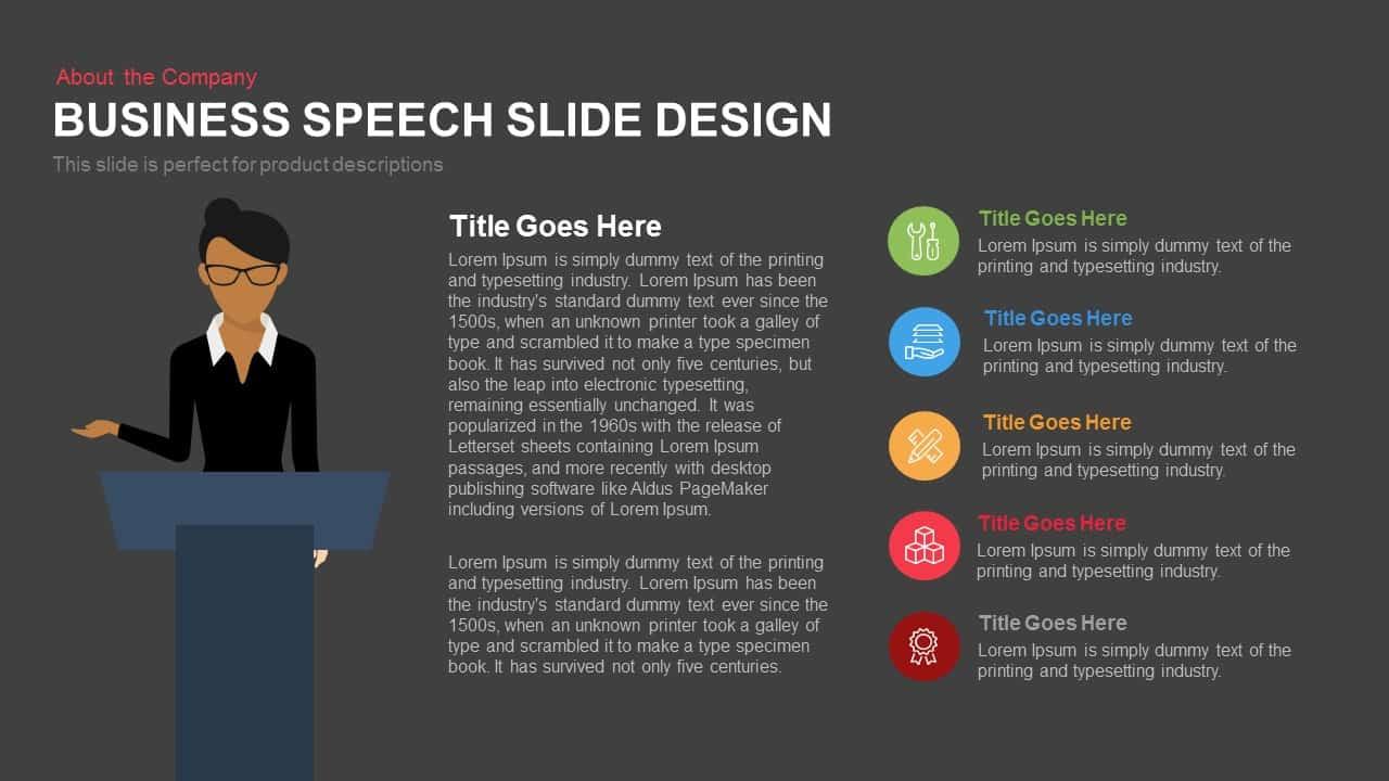 Business Speech Slide Design