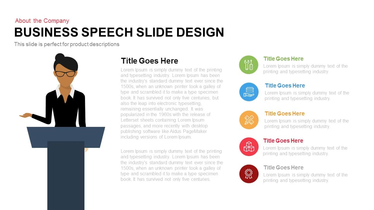 Business Speech Slide Design in PowerPoint and Keynote