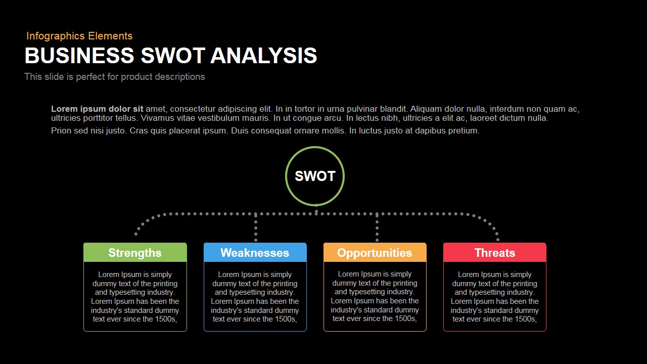 Business swot analysis powerpoint keynote template flashek