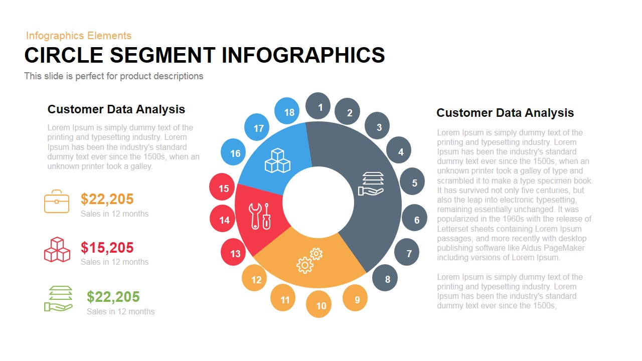 circle segment infographics powerpoint keynote slidebazaar. Black Bedroom Furniture Sets. Home Design Ideas