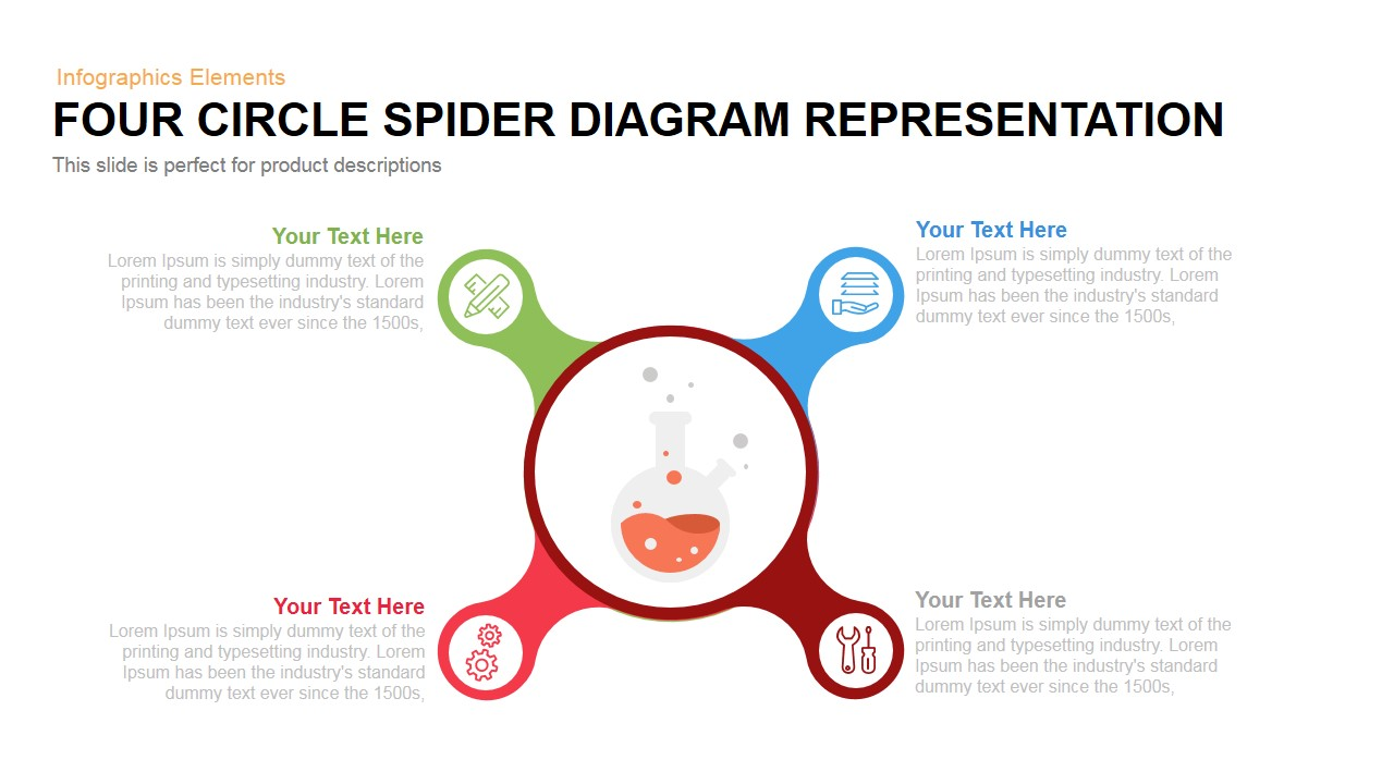 Circle spider diagram representation powerpoint keynote template ccuart Images
