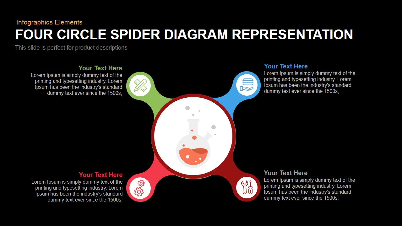 Circle spider diagram representation powerpoint keynote template ccuart Image collections