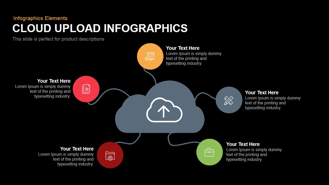 Cloud Upload Infographics Powerpoint Keynote template
