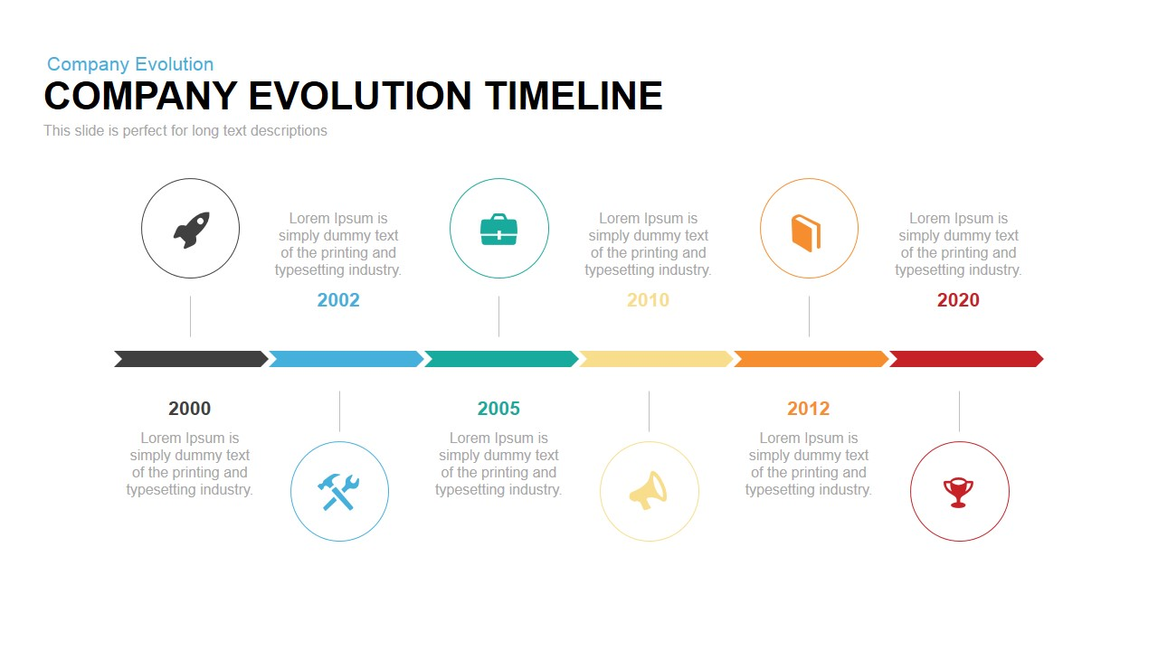 company evolution timeline powerpoint keynote template