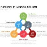 Connected Bubble Infographics Powerpoint Keynote template