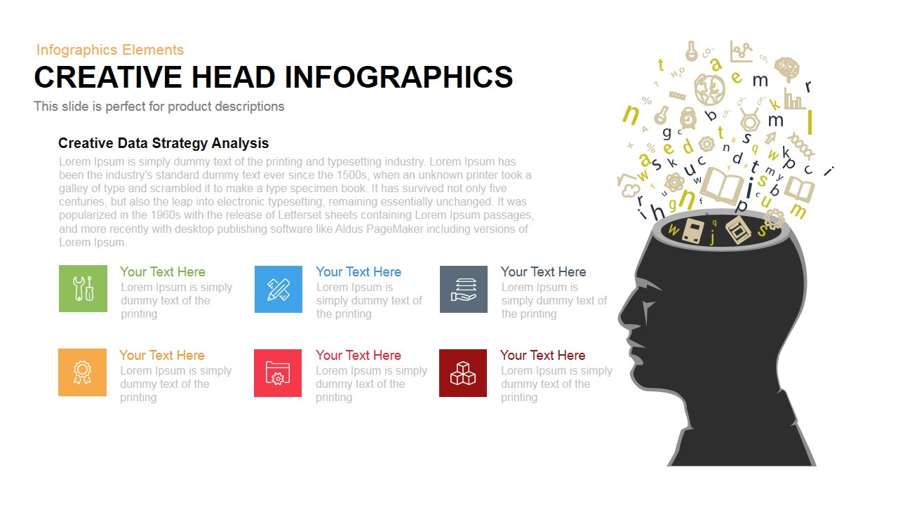Head Infographics PowerPoint Template and Keynote