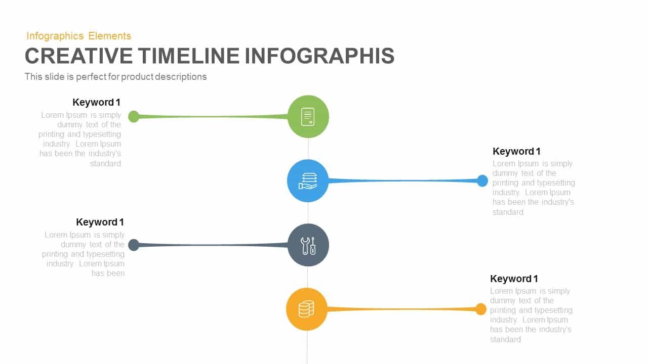Creative Timeline Infographic Powerpoint