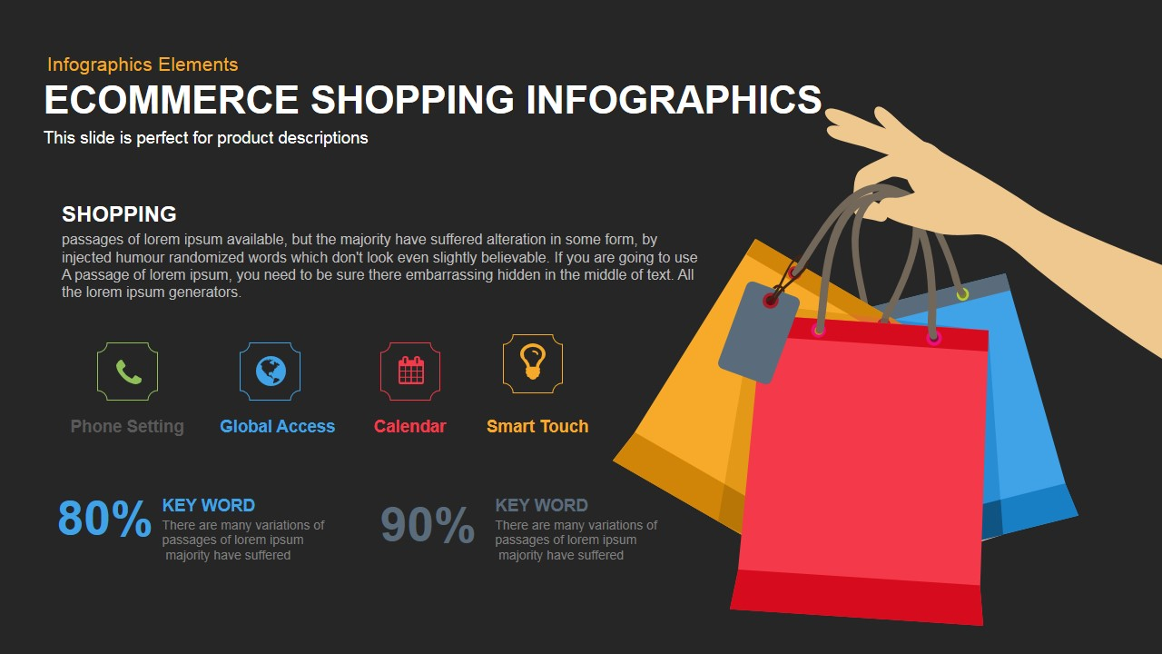 ecommerce shopping infographics powerpoint keynote template, Presentation templates