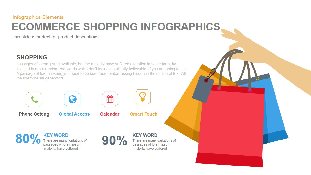 Ecommerce Shopping Infographics Powerpoint Keynote