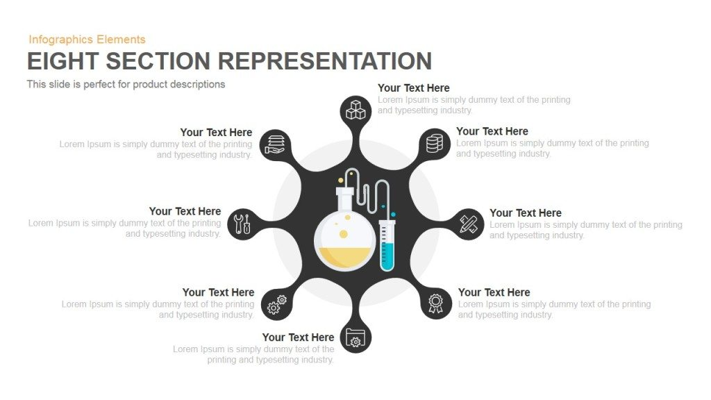 eight section representation powerpoint keynote template