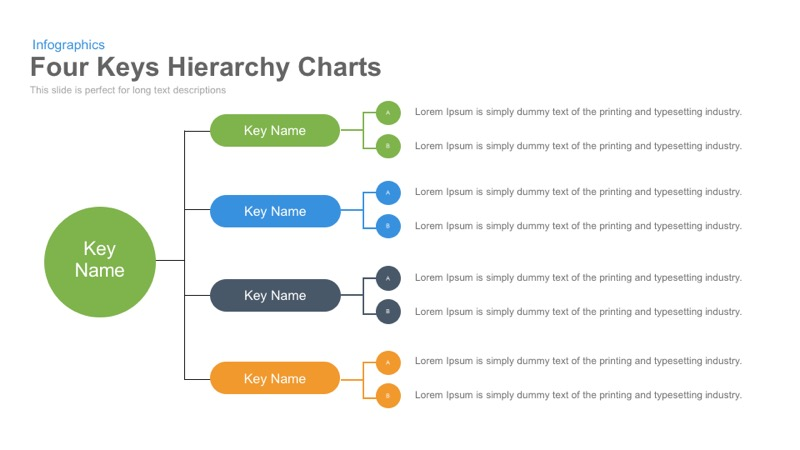 four keys hierarchy charts powerpoint keynote template slidebazaar. Black Bedroom Furniture Sets. Home Design Ideas