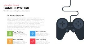 Game Joystick Template for PowerPoint and Keynote