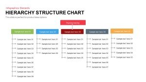 Hierarchy Structure Chart Template for PowerPoint and Keynote