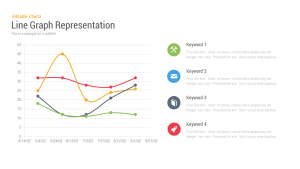 Line Chart Representation PowerPoint Templates and Keynote Slides