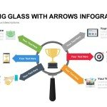Magnifying Glass PowerPoint Template With Arrows Infographics