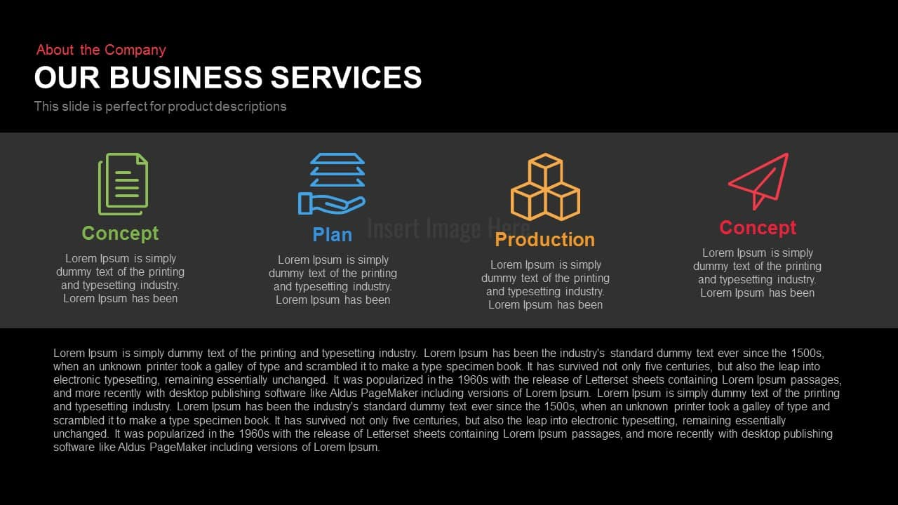 Our Business Services Powerpoint Keynote slide