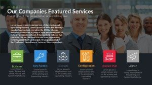 Our Companies Featured Services PowerPoint Template and Keynote slide