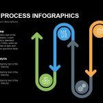 Six Stage Process Infographics Powerpoint Keynote template