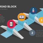 Success Road Block Powerpoint Keynote template