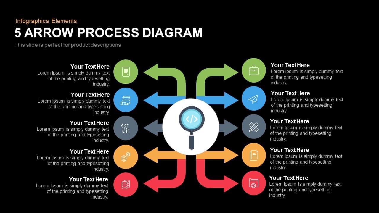 arrow process diagram 5