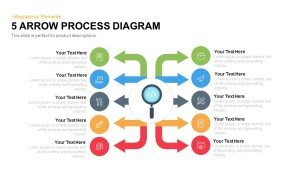 Arrow Process Diagram Template for PowerPoint and Keynote