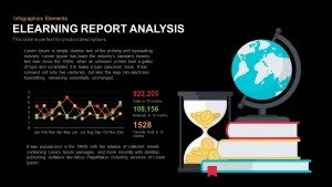 E-Learning Report Analysis PowerPoint Template and Keynote Slide