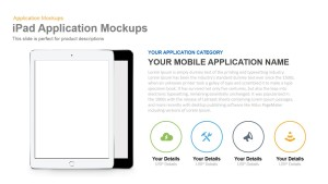iPad Application Mockup PowerPoint Template and Keynote Slide