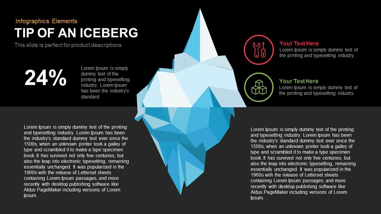 tip of an iceberg