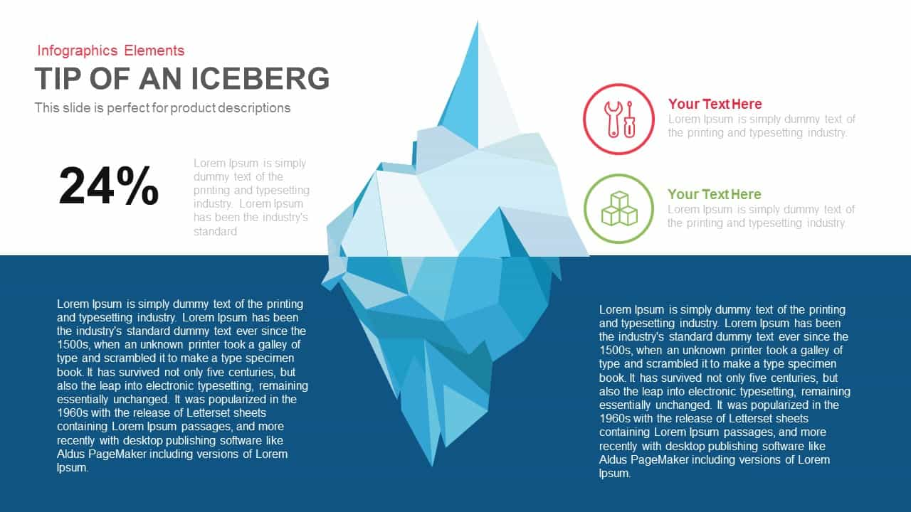 Tip of the Iceberg PowerPoint Template and Keynote Slide