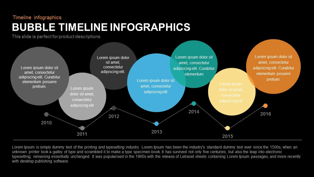 Bubble Timeline Infographics PowerPoint Template and Keynote Slide ...